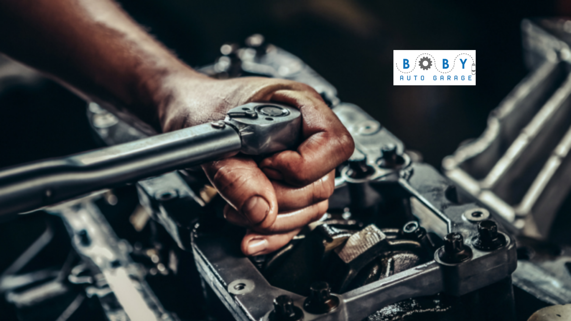 This image shows auto repair in Dubai